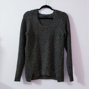 Rock & republic Black Sparkle Knit Sweater Size S